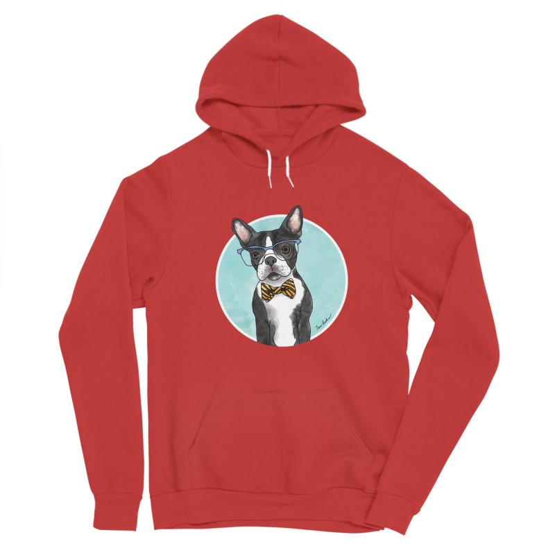 Boston Terrier with bowtie Women's Pullover Hoody by Tara Joy Andrews