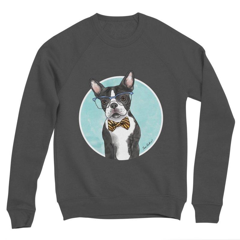 Boston Terrier with bowtie Women's Sponge Fleece Sweatshirt by Tara Joy Andrews