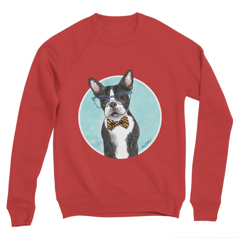 Boston Terrier with bowtie Women's Sponge Fleece Sweatshirt by Tara Joy Andrews