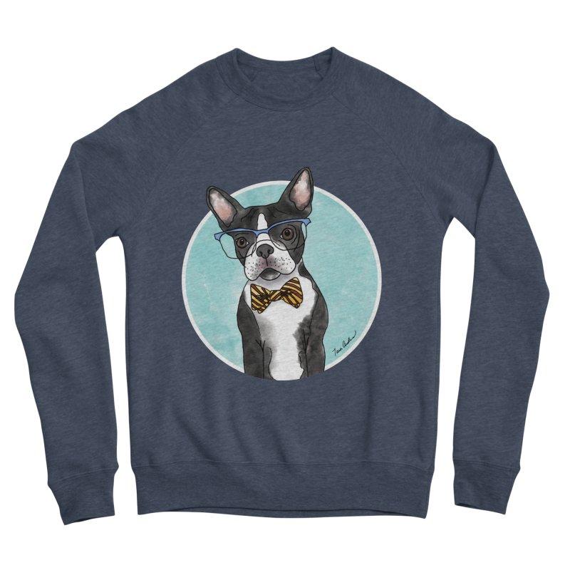Boston Terrier with bowtie Men's Sponge Fleece Sweatshirt by Tara Joy Andrews