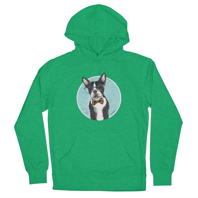 Boston Terrier with bowtie Women's Pullover Hoody by Tara Joy Andrews