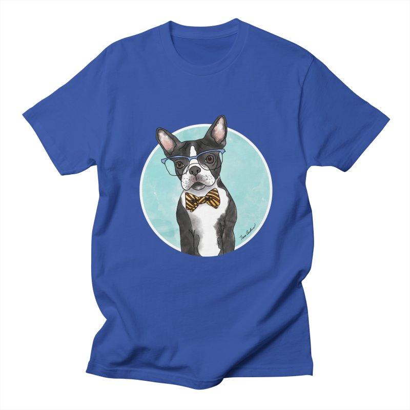 Boston Terrier with bowtie Men's Regular T-Shirt by Tara Joy Andrews