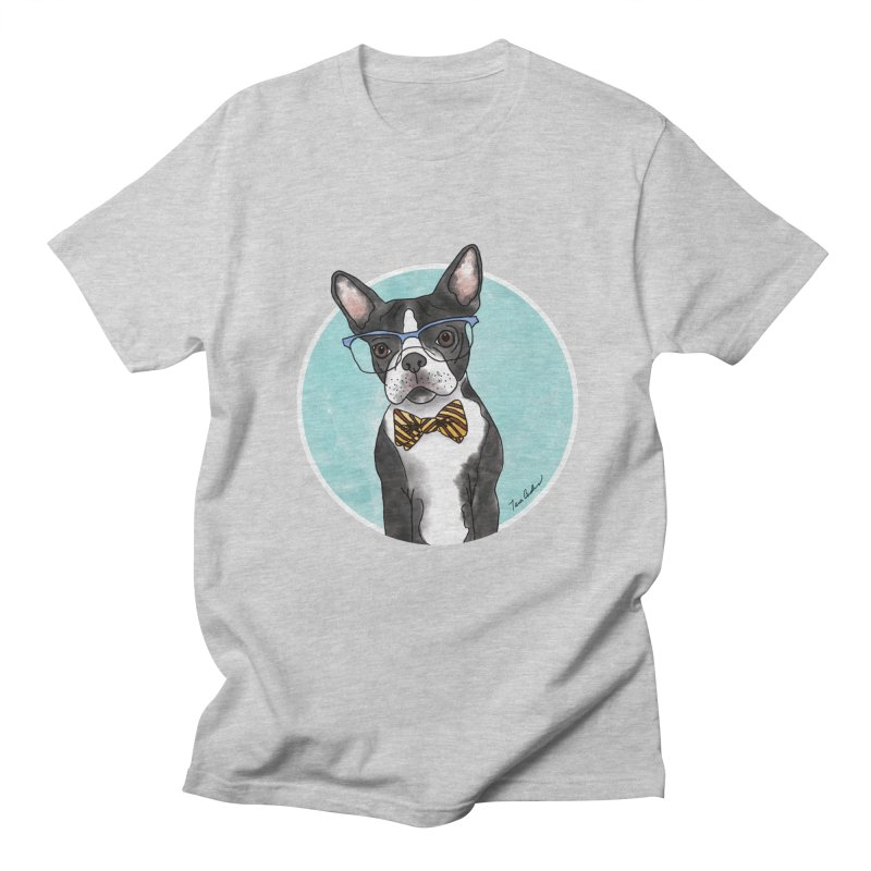 Boston Terrier with bowtie Men's Regular T-Shirt by Tara Joy Andrews