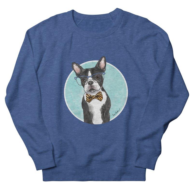 Boston Terrier with bowtie Women's French Terry Sweatshirt by Tara Joy Andrews