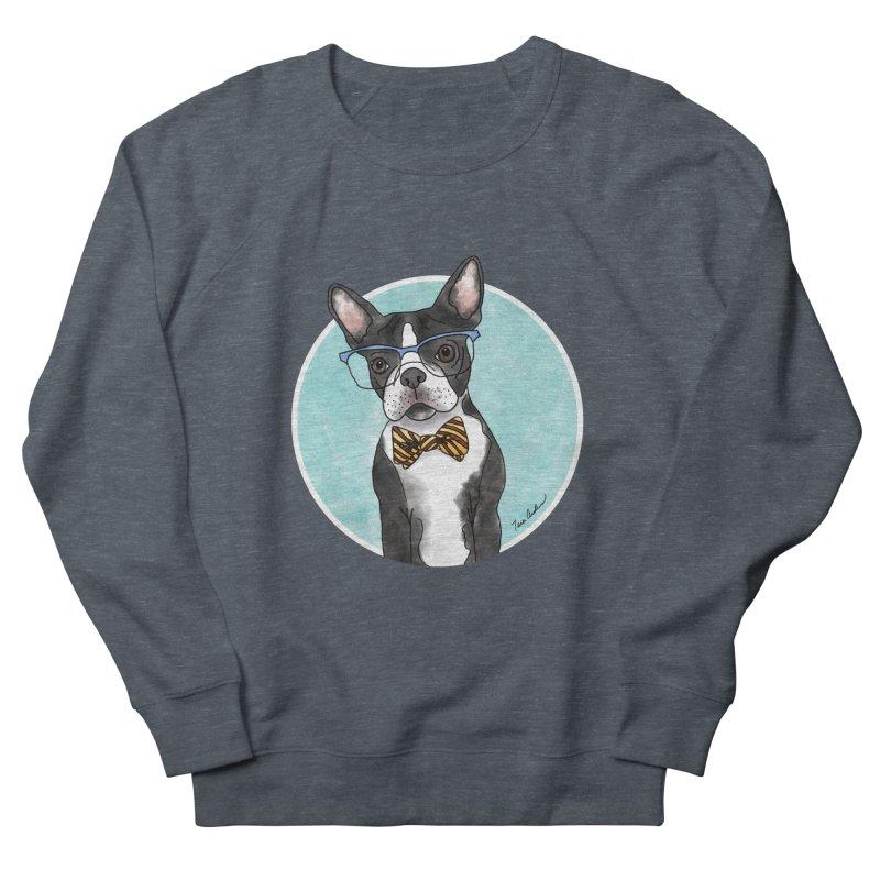Boston Terrier with bowtie Women's Sweatshirt by Tara Joy Andrews