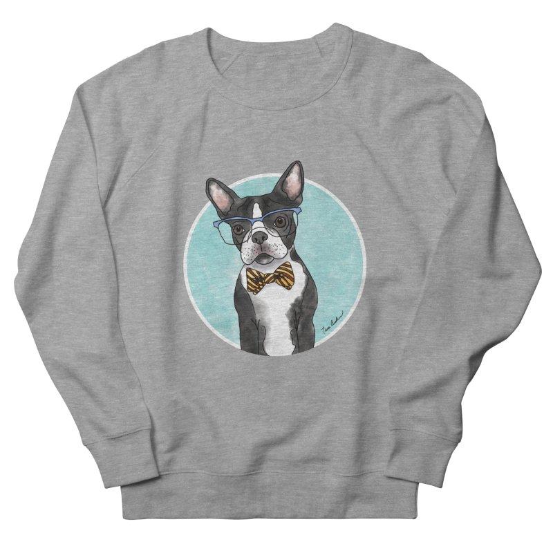 Boston Terrier with bowtie Men's French Terry Sweatshirt by Tara Joy Andrews