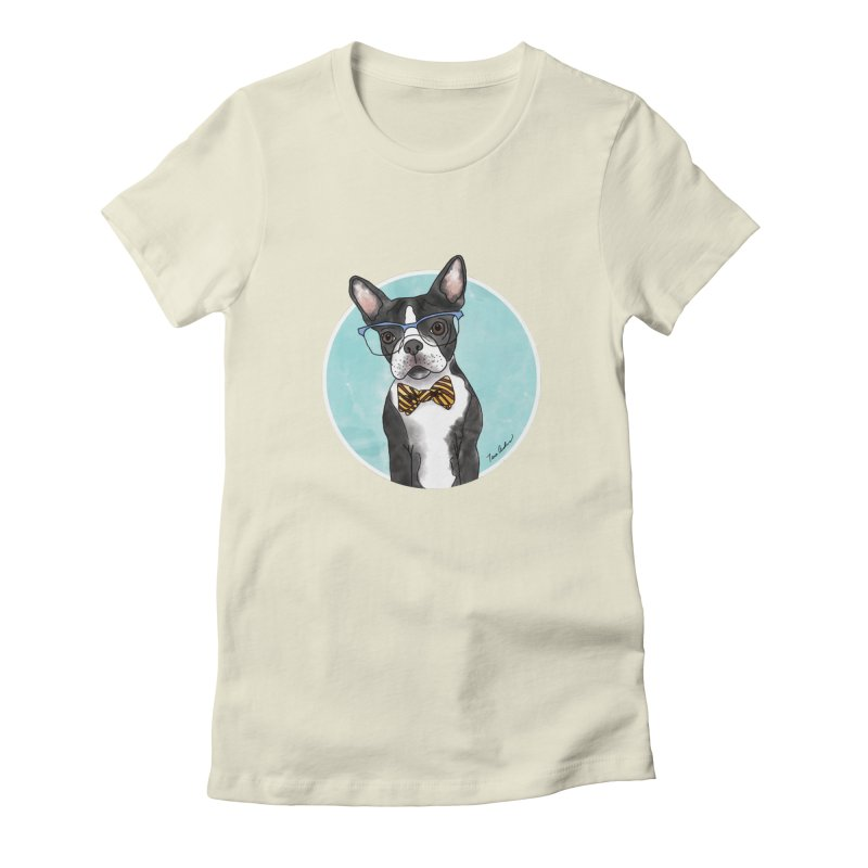 Boston Terrier with bowtie Women's T-Shirt by Tara Joy Andrews