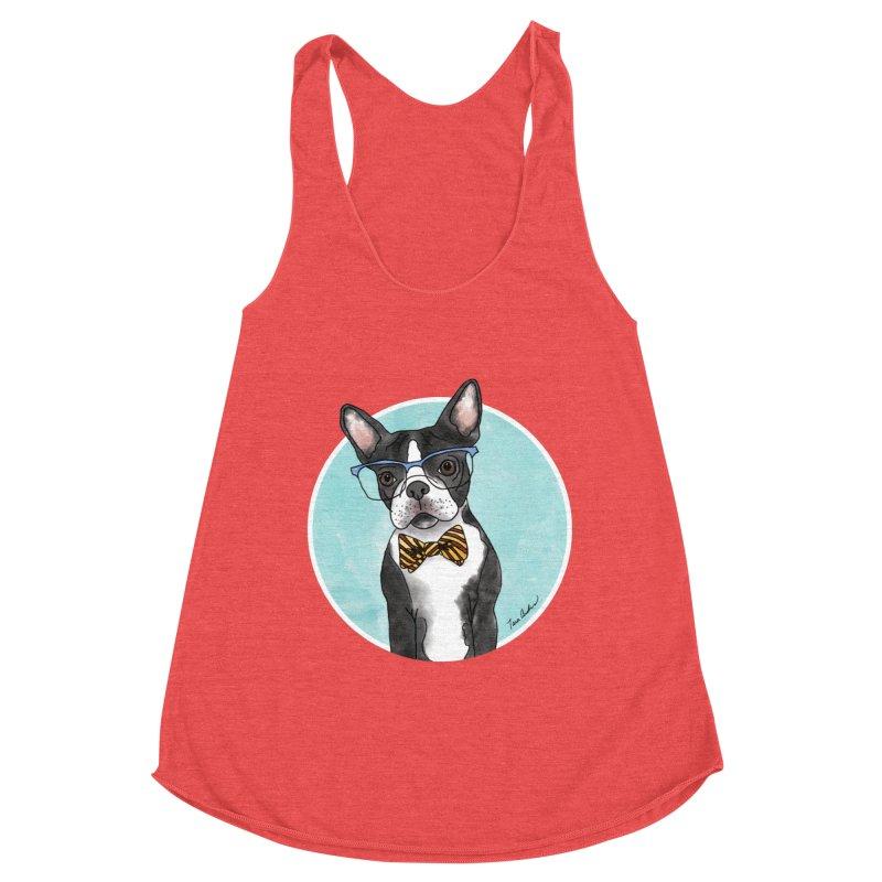 Boston Terrier with bowtie Women's Tank by Tara Joy Andrews