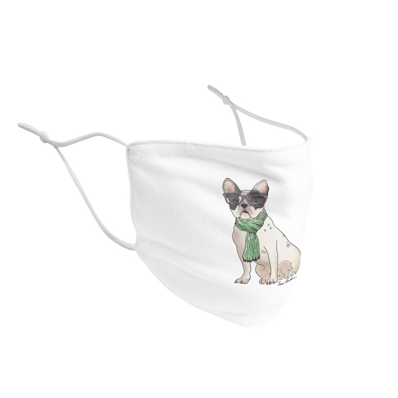 Hipster French Bulldog Accessories Face Mask by Tara Joy Andrews