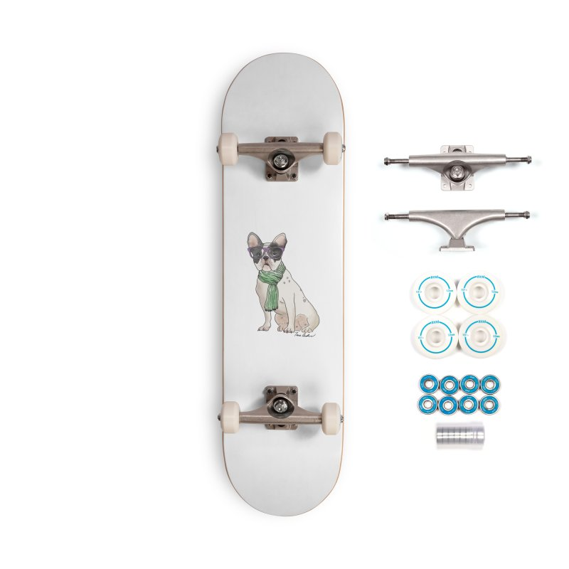 Hipster French Bulldog Accessories Complete - Basic Skateboard by Tara Joy Andrews