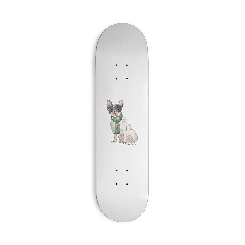 Hipster French Bulldog Accessories Skateboard by Tara Joy Andrews