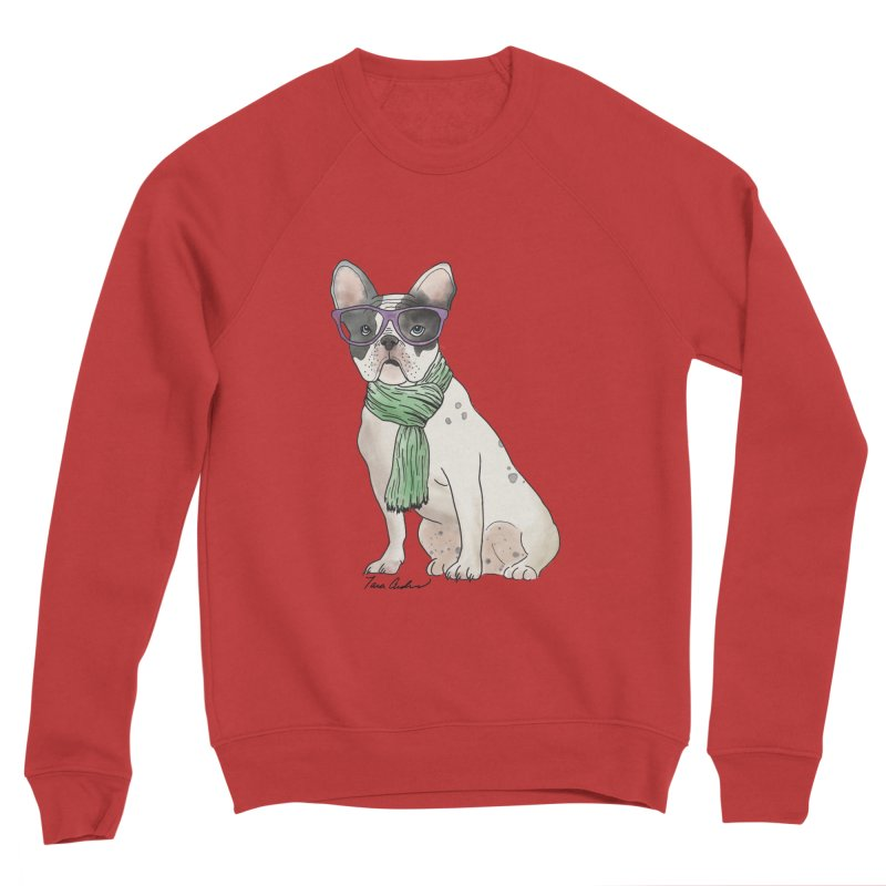 Hipster French Bulldog Women's Sponge Fleece Sweatshirt by Tara Joy Andrews