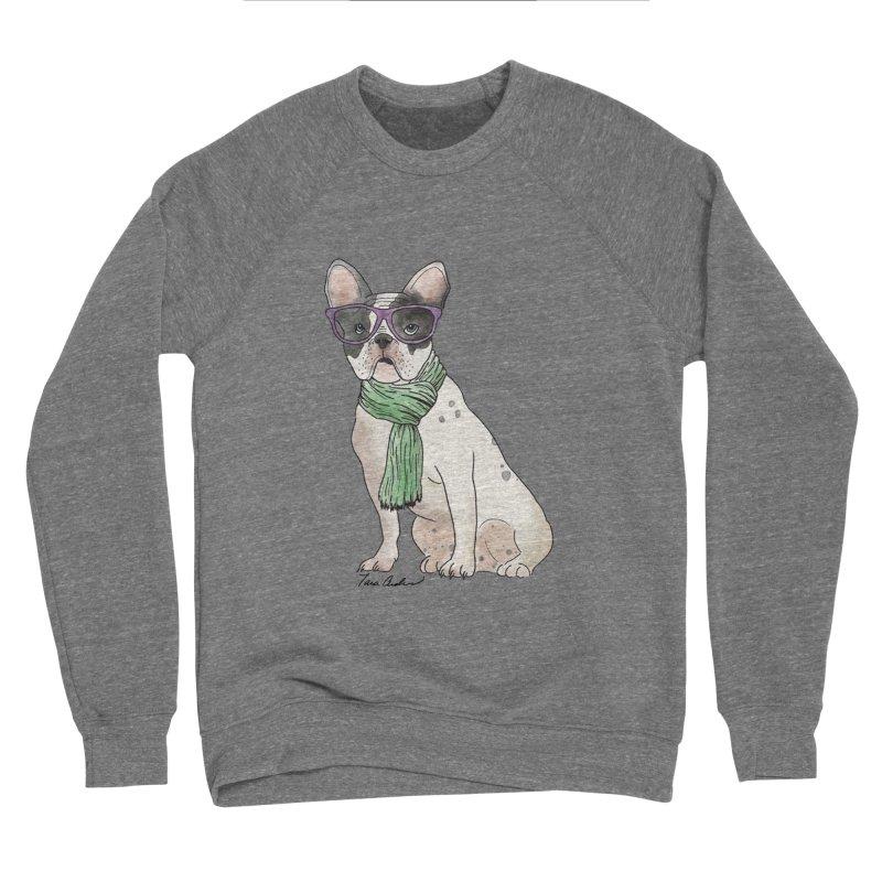 Hipster French Bulldog Men's Sponge Fleece Sweatshirt by Tara Joy Andrews