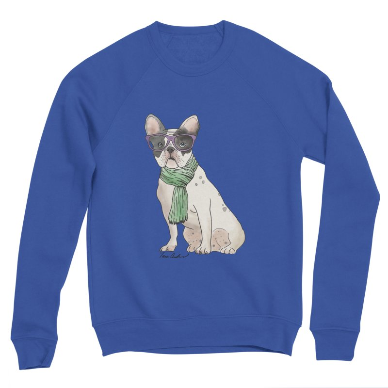 Hipster French Bulldog Men's Sponge Fleece Sweatshirt by Tara Joy Andrews