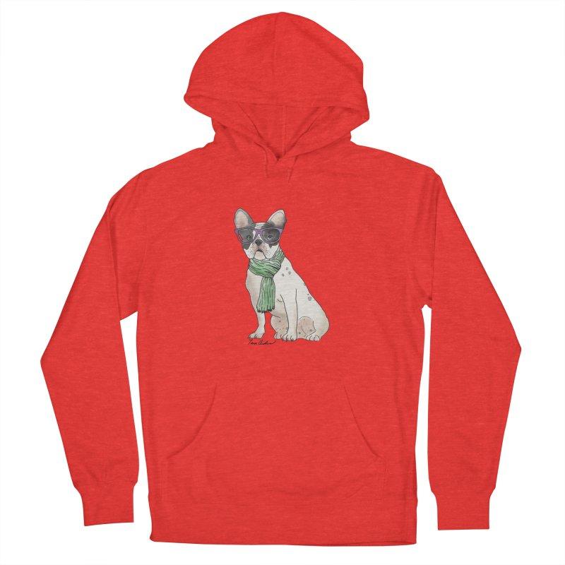 Hipster French Bulldog Men's Pullover Hoody by Tara Joy Andrews