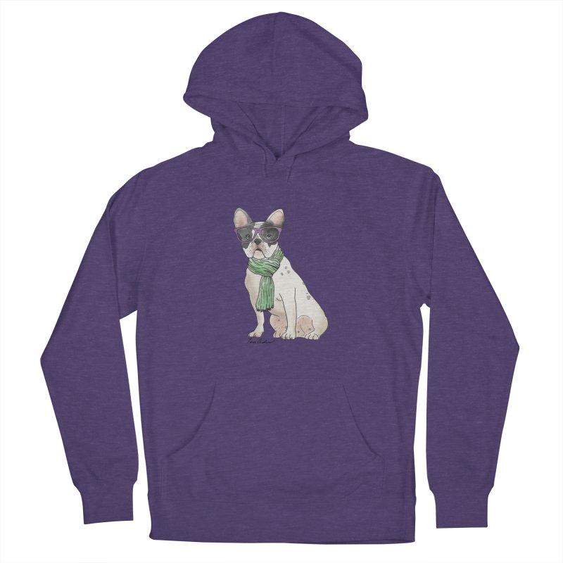 Hipster French Bulldog Women's Pullover Hoody by Tara Joy Andrews