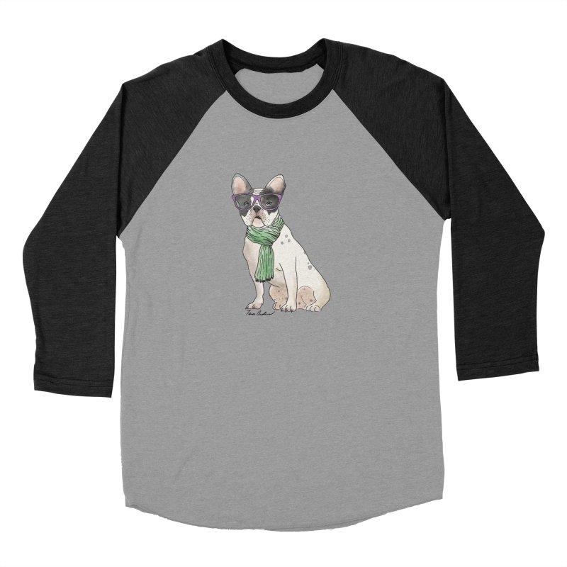 Hipster French Bulldog Women's Longsleeve T-Shirt by Tara Joy Andrews