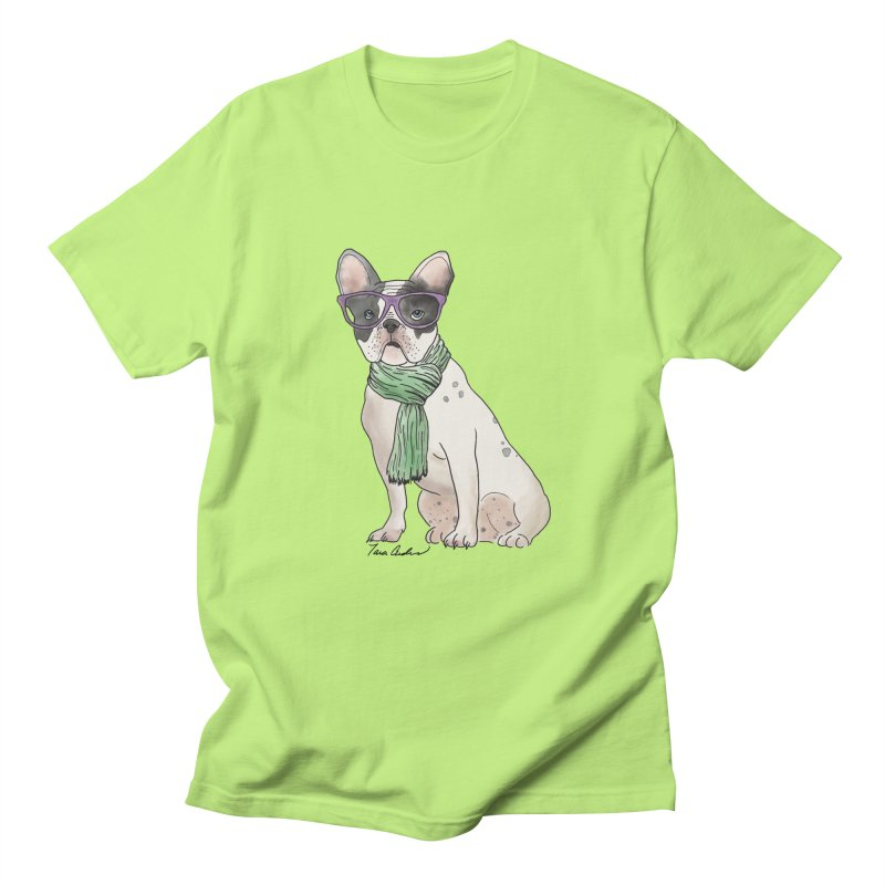 Hipster French Bulldog Women's Regular Unisex T-Shirt by Tara Joy Andrews