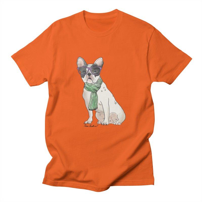 Hipster French Bulldog Women's Regular Unisex T-Shirt by Tara Joy Andrews