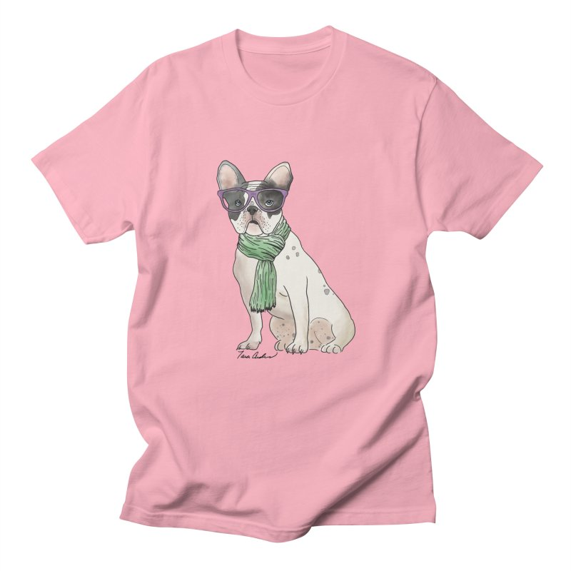 Hipster French Bulldog Men's Regular T-Shirt by Tara Joy Andrews