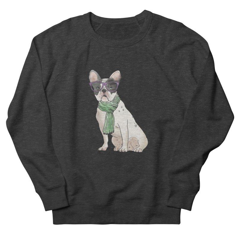 Hipster French Bulldog Women's French Terry Sweatshirt by Tara Joy Andrews