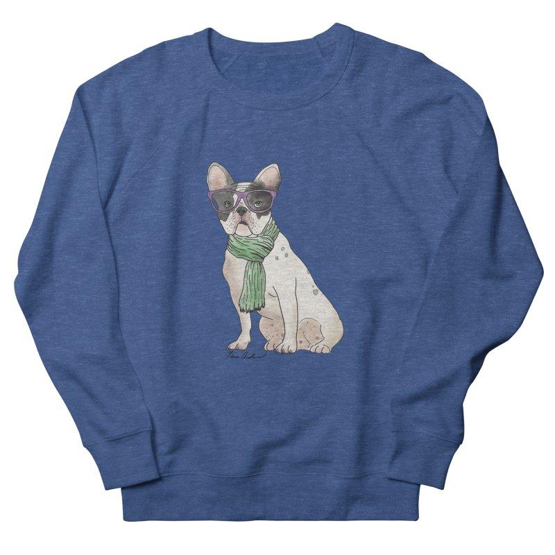Hipster French Bulldog Women's Sweatshirt by Tara Joy Andrews