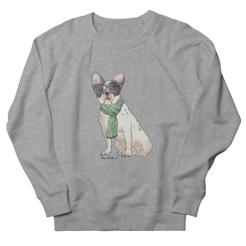 Hipster French Bulldog Women's French Terry Sweatshirt by Tara Joy Andrews