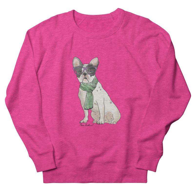 Hipster French Bulldog Men's Sweatshirt by Tara Joy Andrews