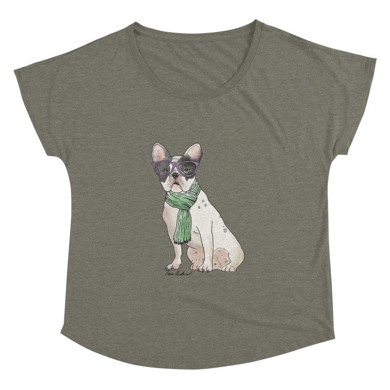 Hipster French Bulldog Women's Scoop Neck by Tara Joy Andrews