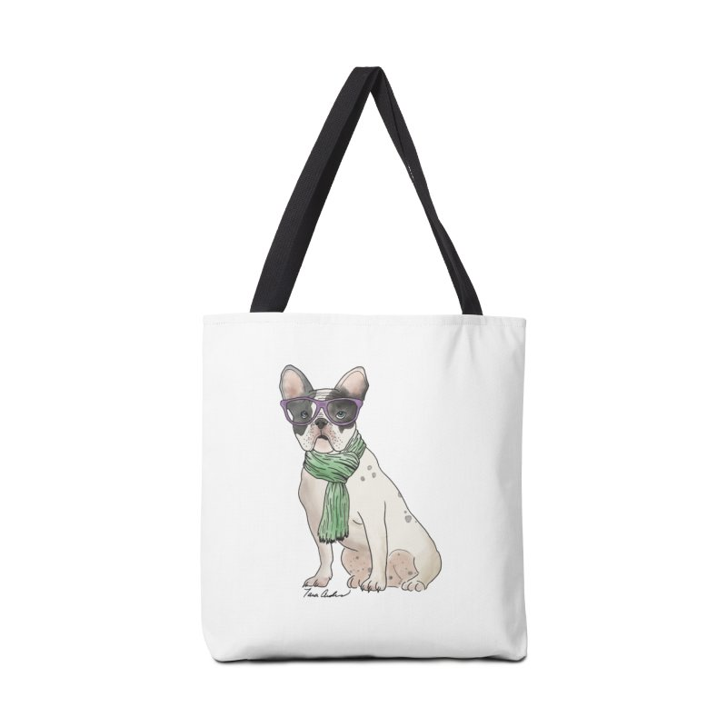 Hipster French Bulldog Accessories Bag by Tara Joy Andrews