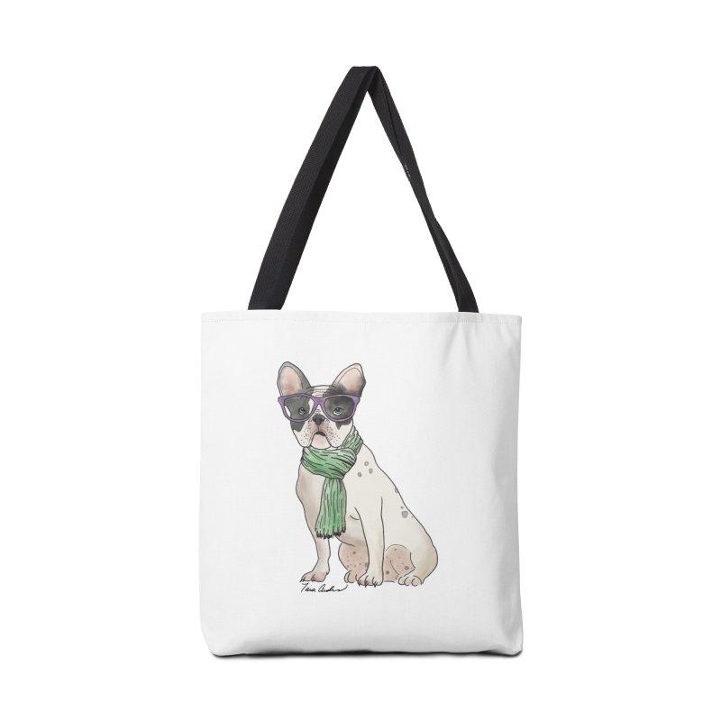 Hipster French Bulldog Accessories Bag by Tara Joy Andrews
