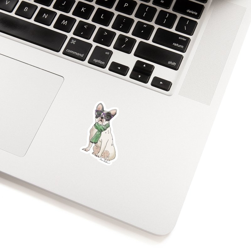 Hipster French Bulldog Accessories Sticker by Tara Joy Andrews