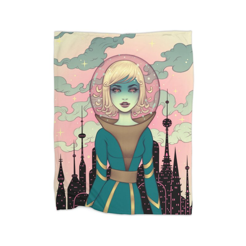 Stellar Revolution Home Fleece Blanket Blanket by Tara McPherson