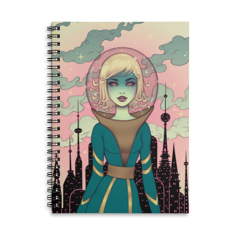 Stellar Revolution Accessories Lined Spiral Notebook by Tara McPherson