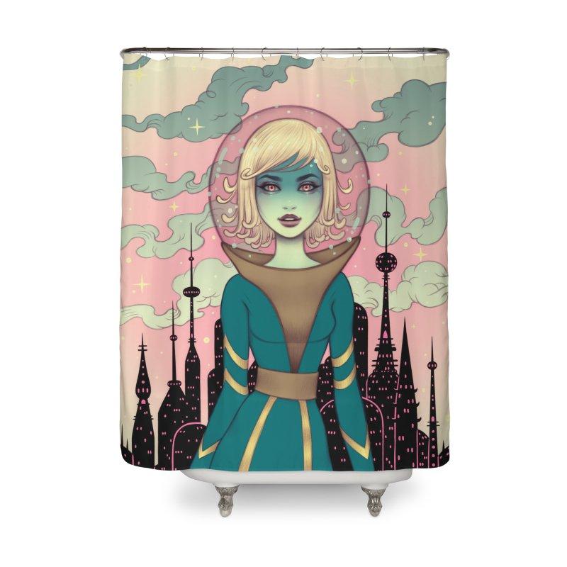 Stellar Revolution Home Shower Curtain by Tara McPherson