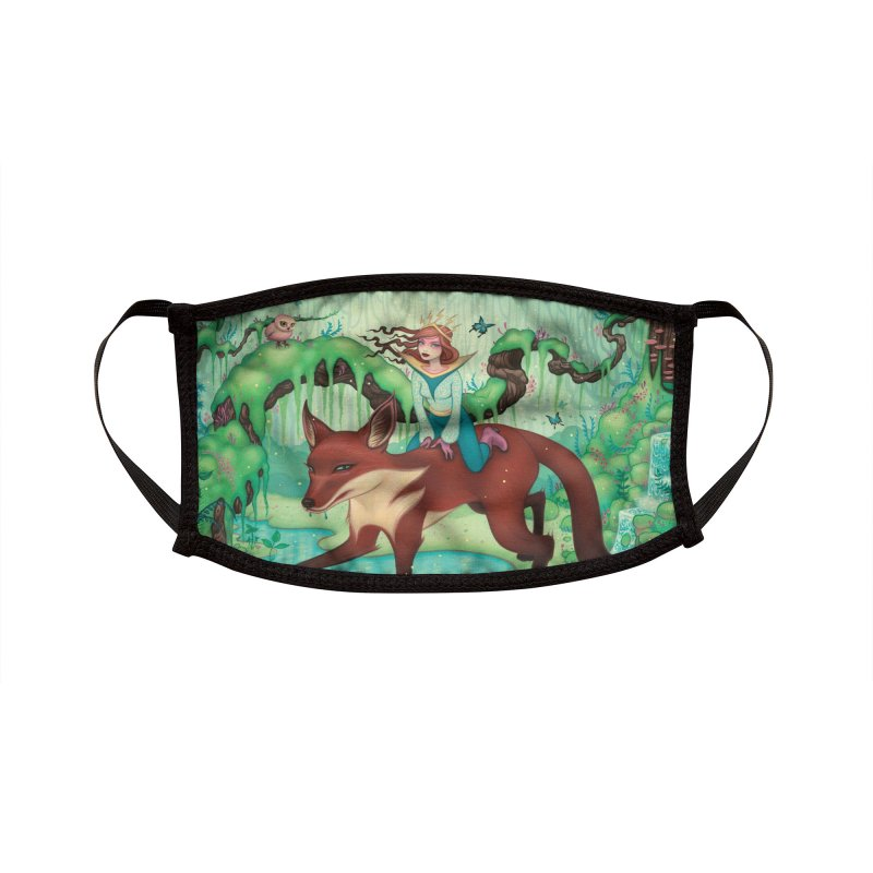 The Fox's Respite Accessories Face Mask by Tara McPherson