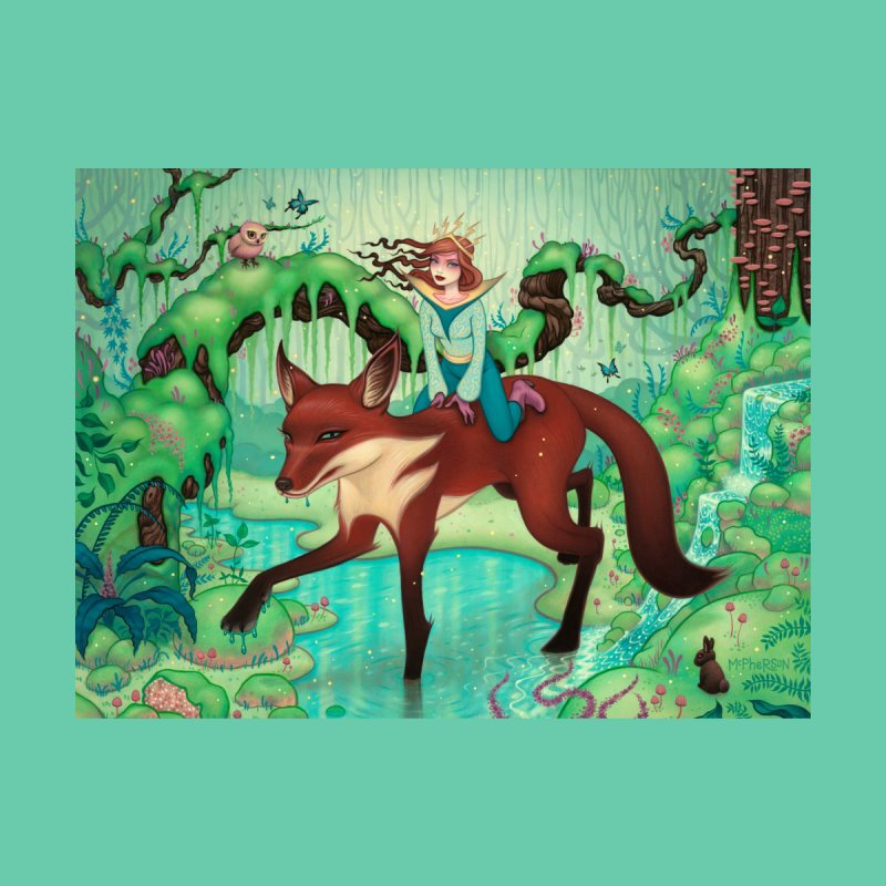 The Fox's Respite Men's T-Shirt by Tara McPherson