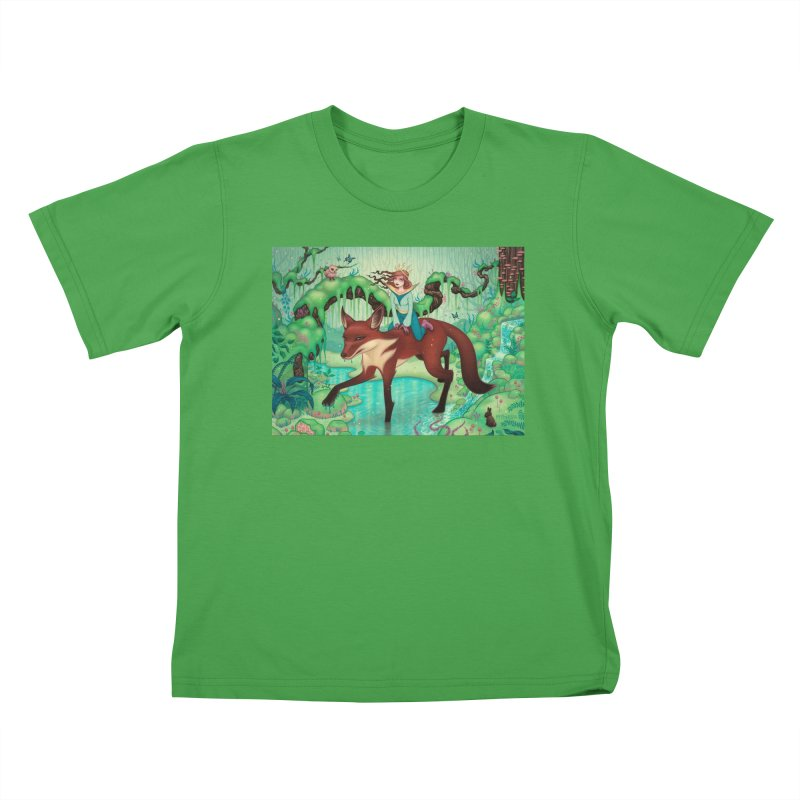 The Fox's Respite Kids T-Shirt by Tara McPherson