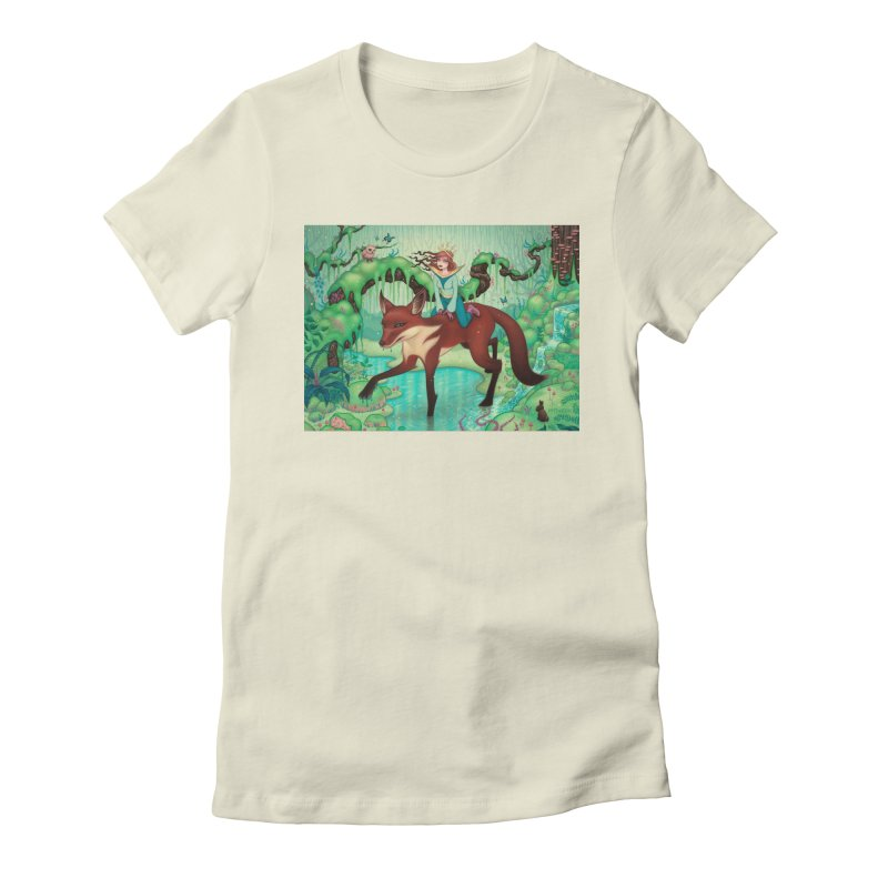 The Fox's Respite Women's Fitted T-Shirt by Tara McPherson