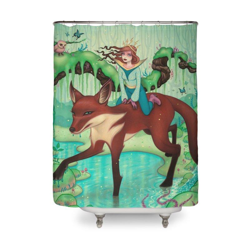 The Fox's Respite Home Shower Curtain by Tara McPherson