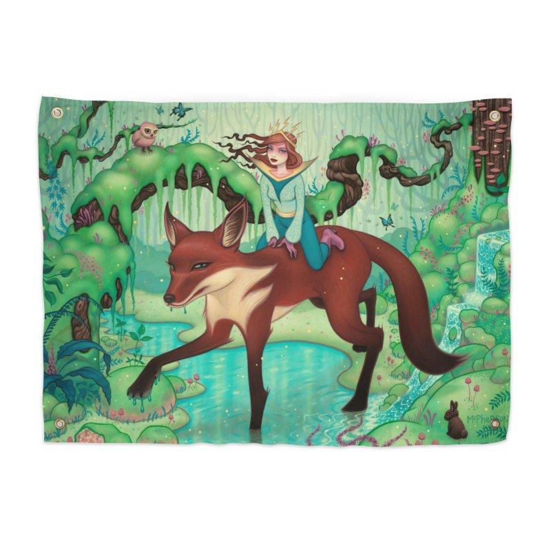 The Fox's Respite Home Tapestry by Tara McPherson