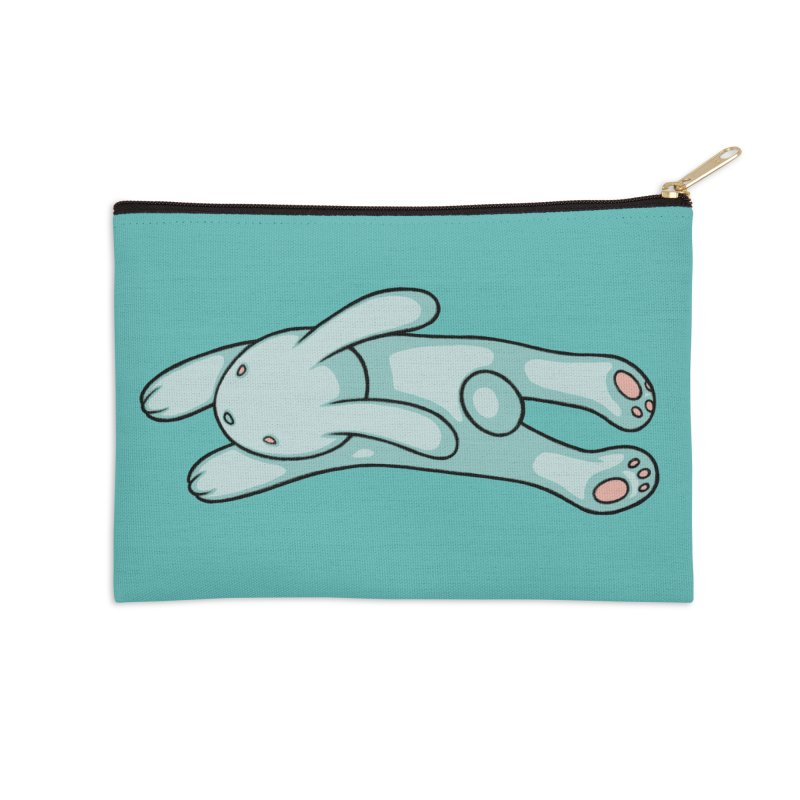 Blue Bunny Accessories Zip Pouch by Tara McPherson