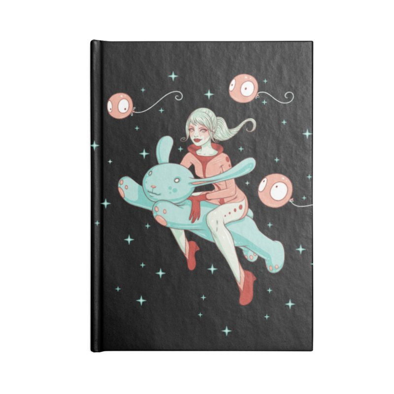 Space Bunny Accessories Lined Journal Notebook by Tara McPherson