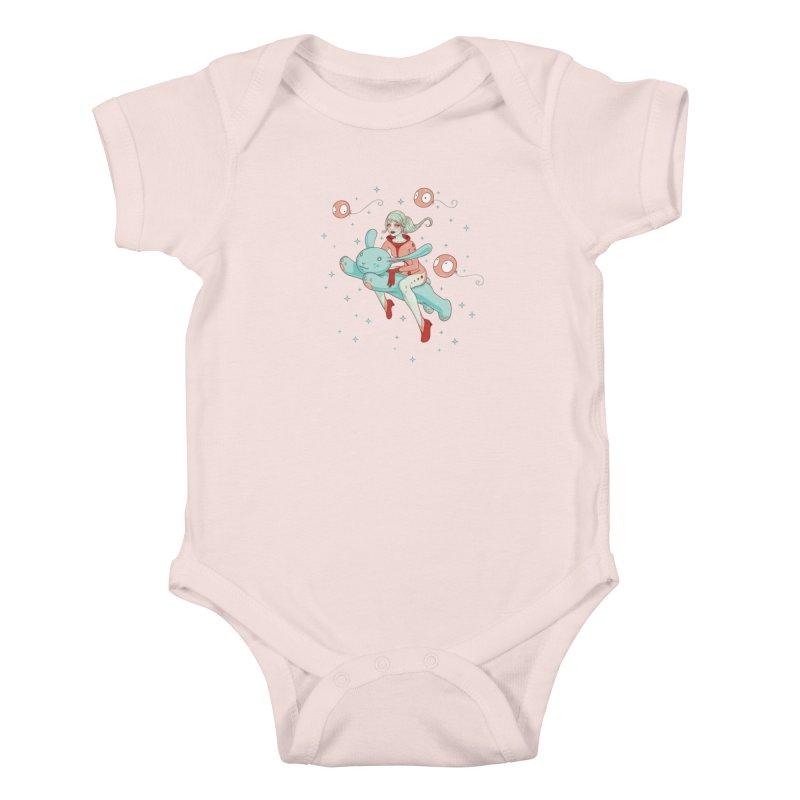 Space Bunny Kids Baby Bodysuit by Tara McPherson
