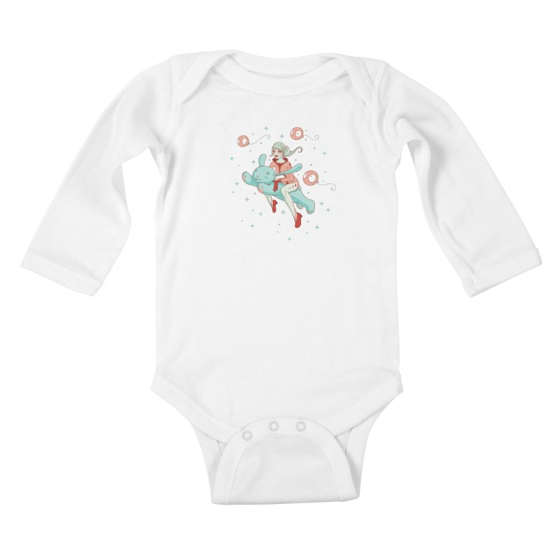 Space Bunny Kids Baby Longsleeve Bodysuit by Tara McPherson