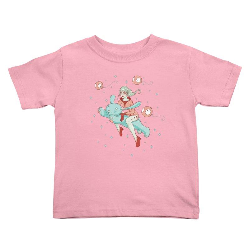 Space Bunny Kids Toddler T-Shirt by Tara McPherson