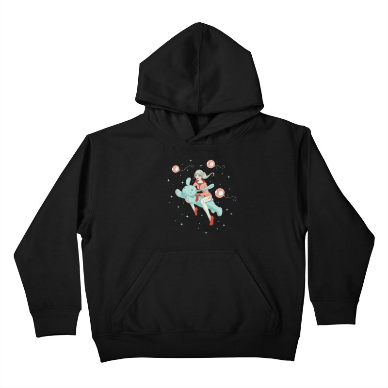 Space Bunny Kids Pullover Hoody by Tara McPherson