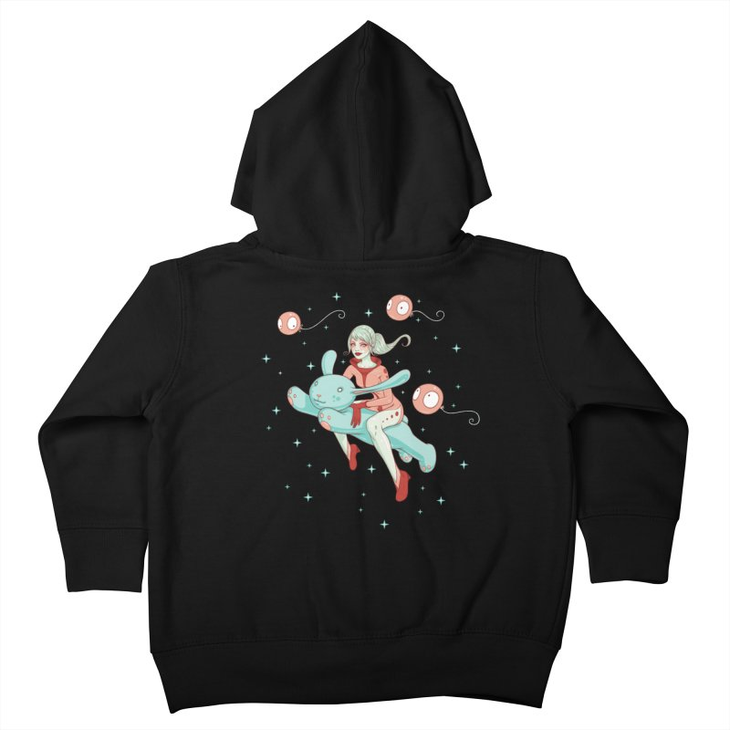 Space Bunny Kids Toddler Zip-Up Hoody by Tara McPherson