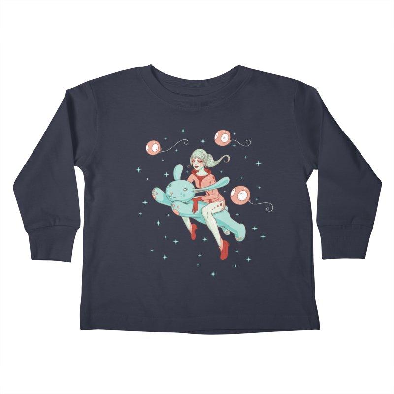 Space Bunny Kids Toddler Longsleeve T-Shirt by Tara McPherson