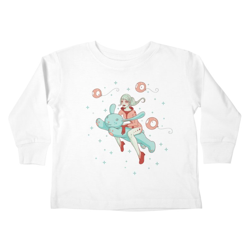 Space Bunny Kids Toddler Longsleeve T-Shirt by Tara McPherson